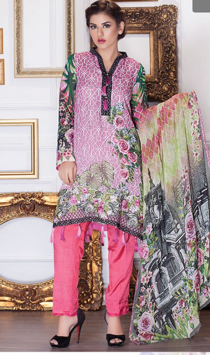 Motifz Embroidered Chiffon MDC-25