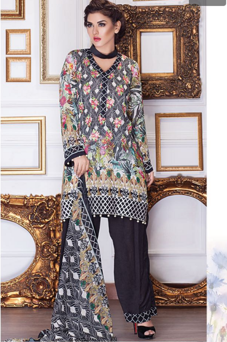 Motifz Embroidered Chiffon MDC-20