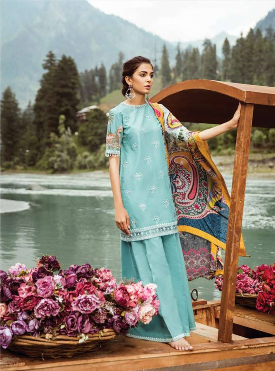 Mushk Embroidered Lawn NAZNEEN