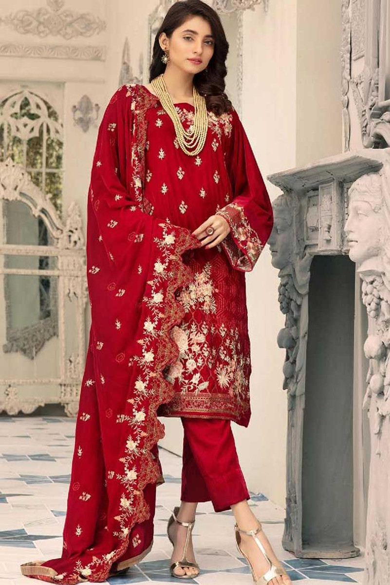 Shaista Velvet Embroidered SVC-300
