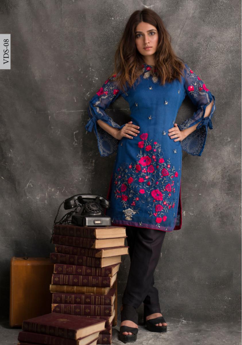 Veena Durrani Embroidered Kurti VDS-08