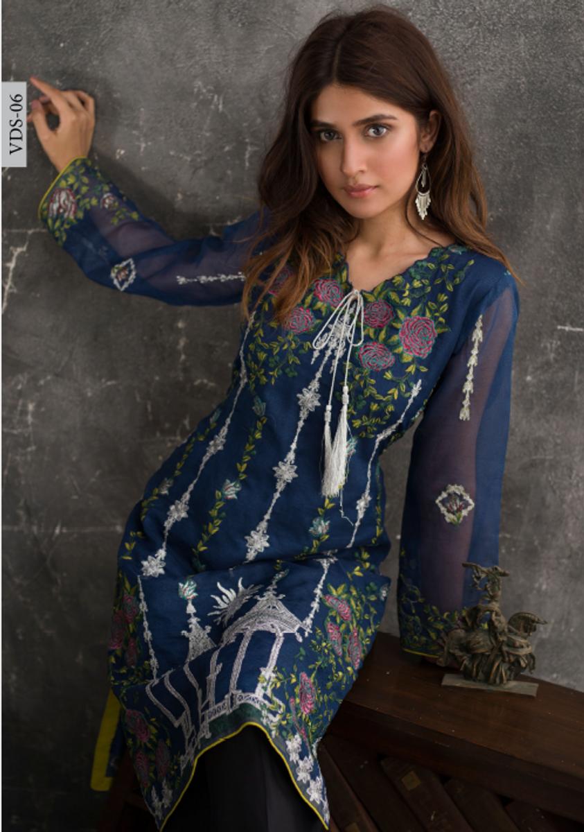 Veena Durrani Embroidered Kurti VDS-06