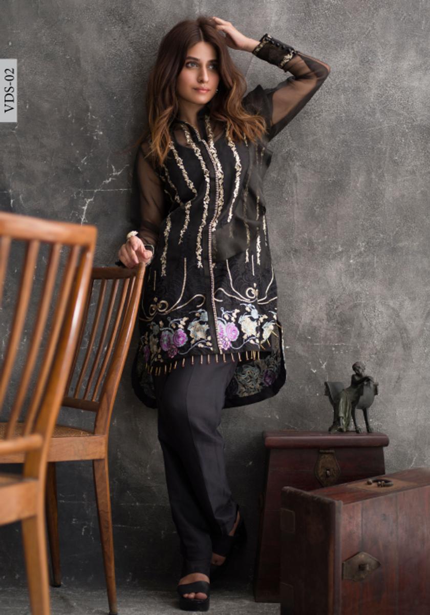Veena Durrani Embroidered Kurti VDS-02