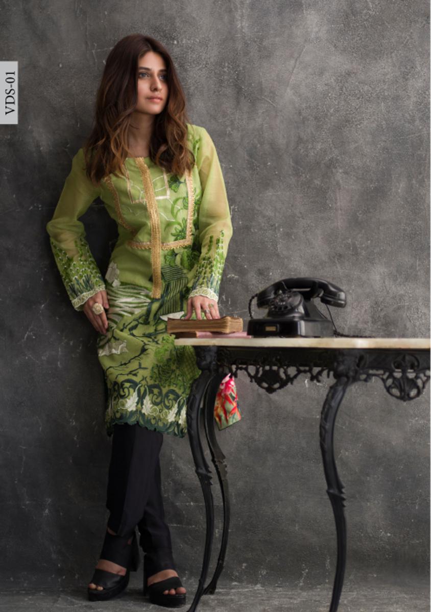 Veena Durrani Embroidered Kurti VDS-01