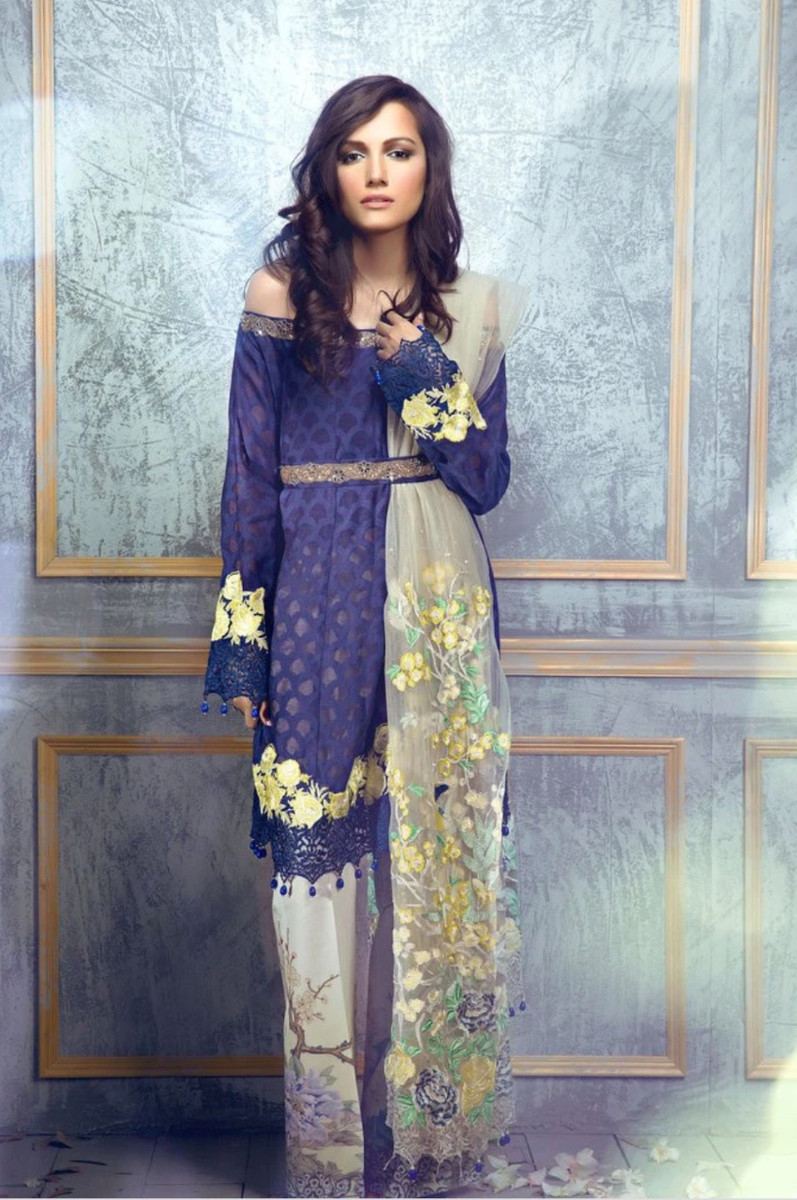 Rungrez Czarina - Surreal Luster Chiffon & Silk Collection – Edenic Nightfall