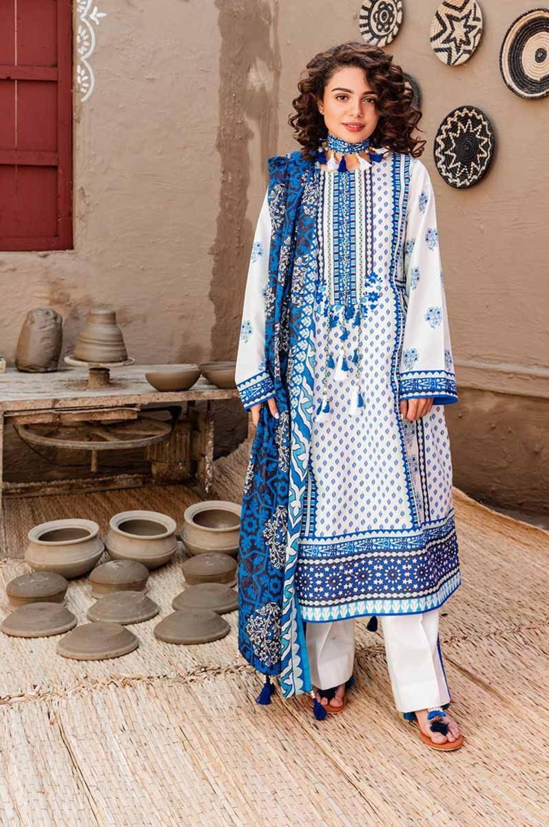 Gul Ahmed Halla Pottery Lawn CL-926