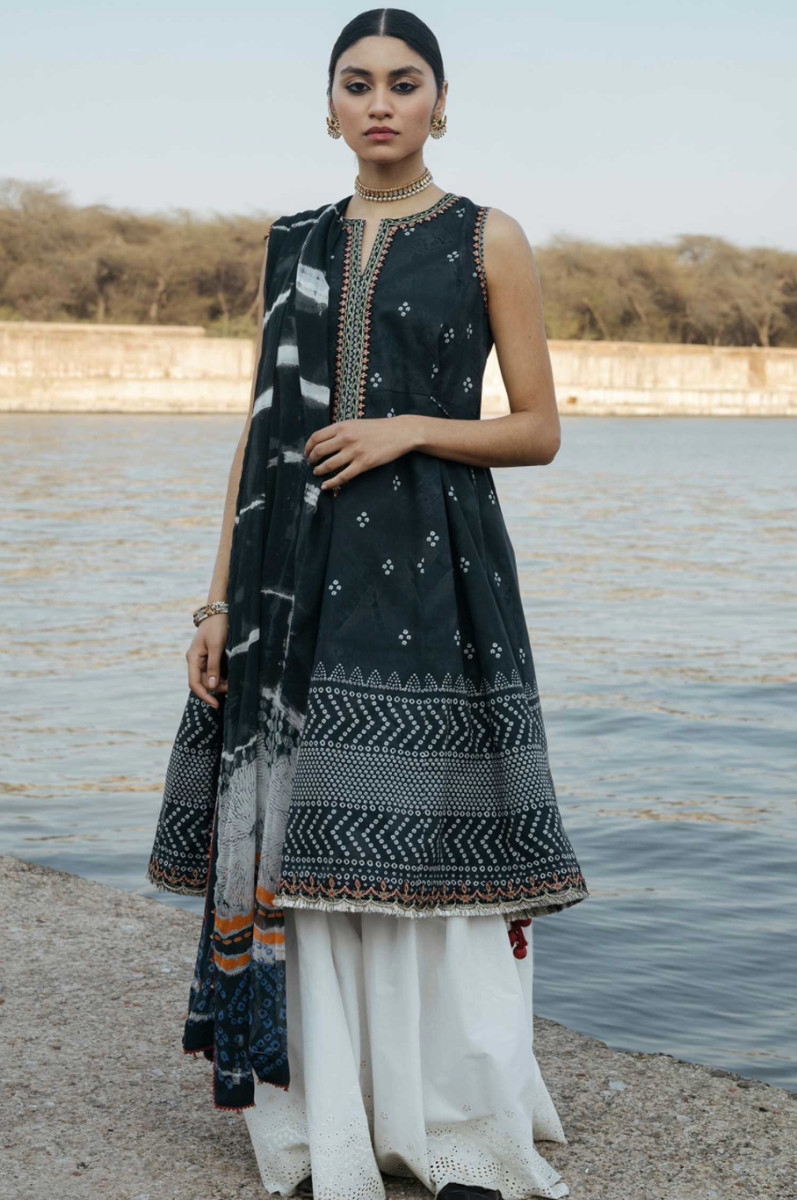 Zara Shahjahan Lawn Bansuri-A