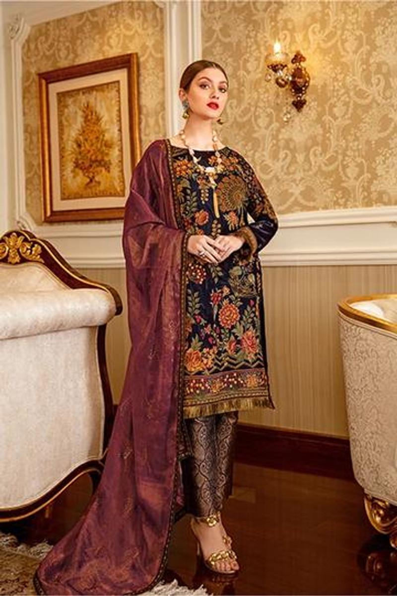 Ramsha Velvet Collection 2020 – V-104
