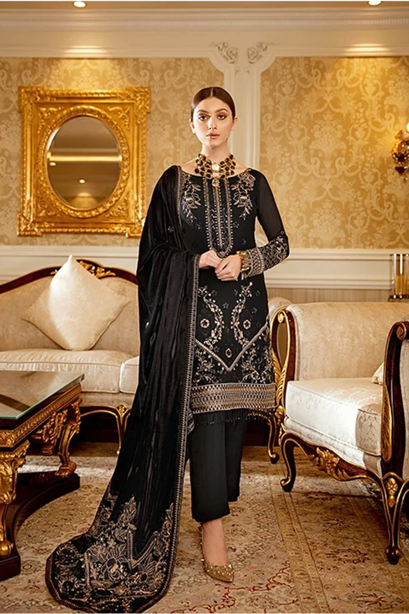 Ramsha Velvet Collection 2020 – V-101