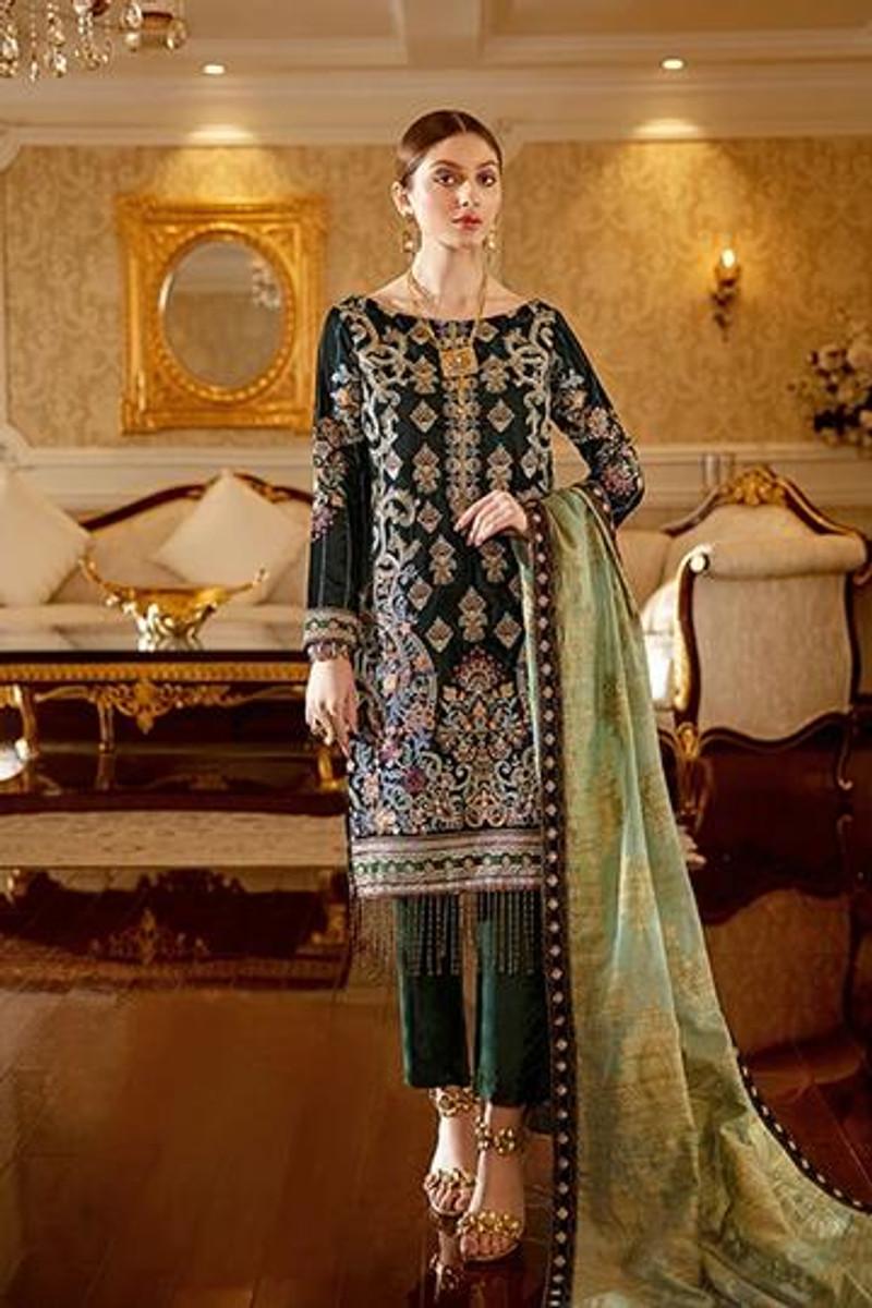 Ramsha Velvet Collection 2020 –V102