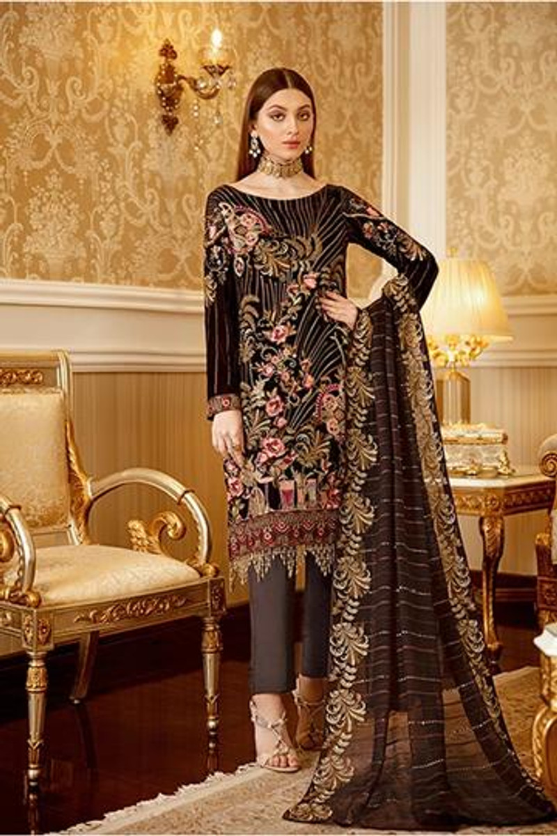 Ramsha Velvet Collection 2020 – V-105