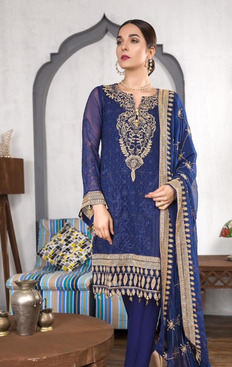 Umyas Chantilly Chiffon 2020 – 03 Royal Blue