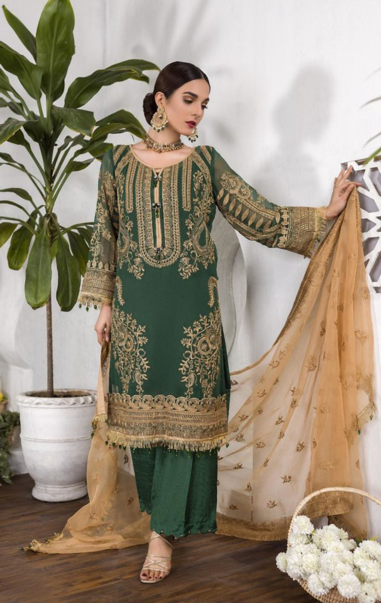 Umyas Chantilly Chiffon 2020 – 05 Forest Green
