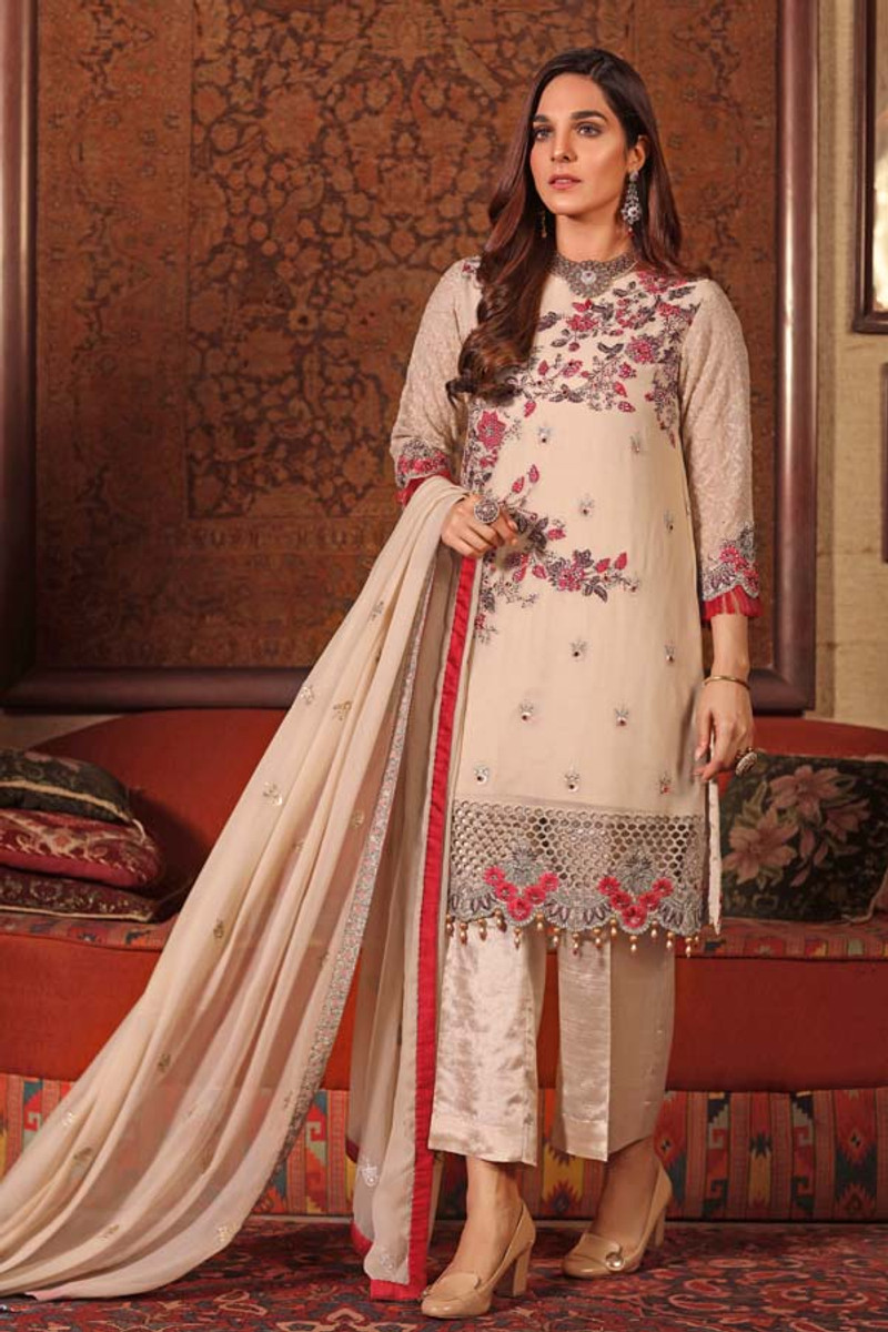 Angan by Zebaish – Luxury Embroidered Chiffon Formal Collection – Peace Lily
