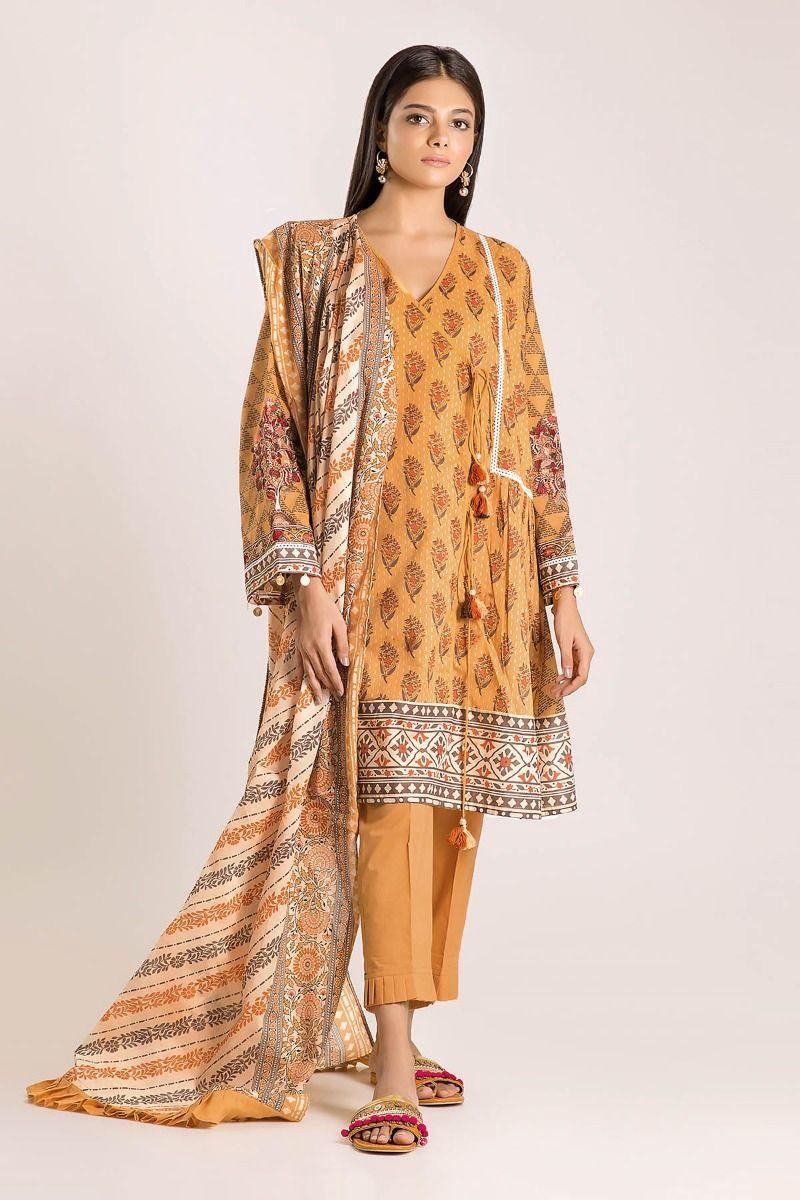 Khaadi Cambric Autumn Collection-M19419 (2Pc)