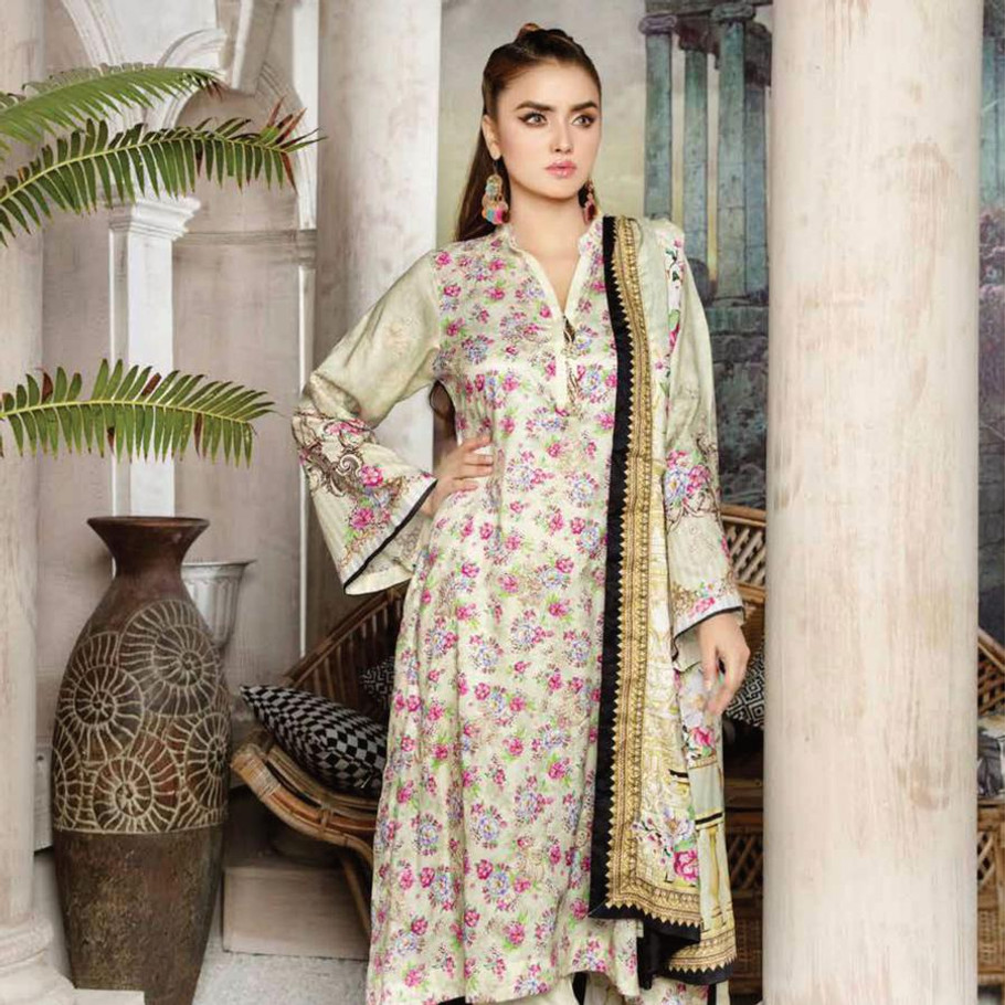 Mahjabeen embroidered Linen-049 (Graceful Trends)