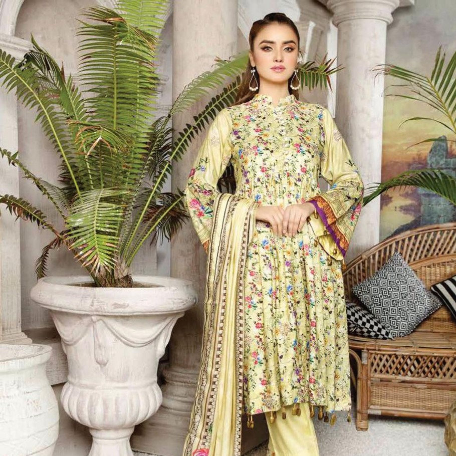 Mahjabeen embroidered Linen-050 (Sassy Looks)