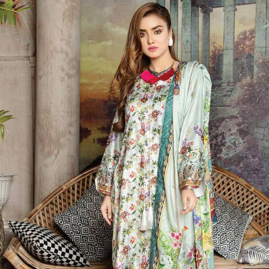 Mahjabeen embroidered Linen -054 (Fun Dressing)