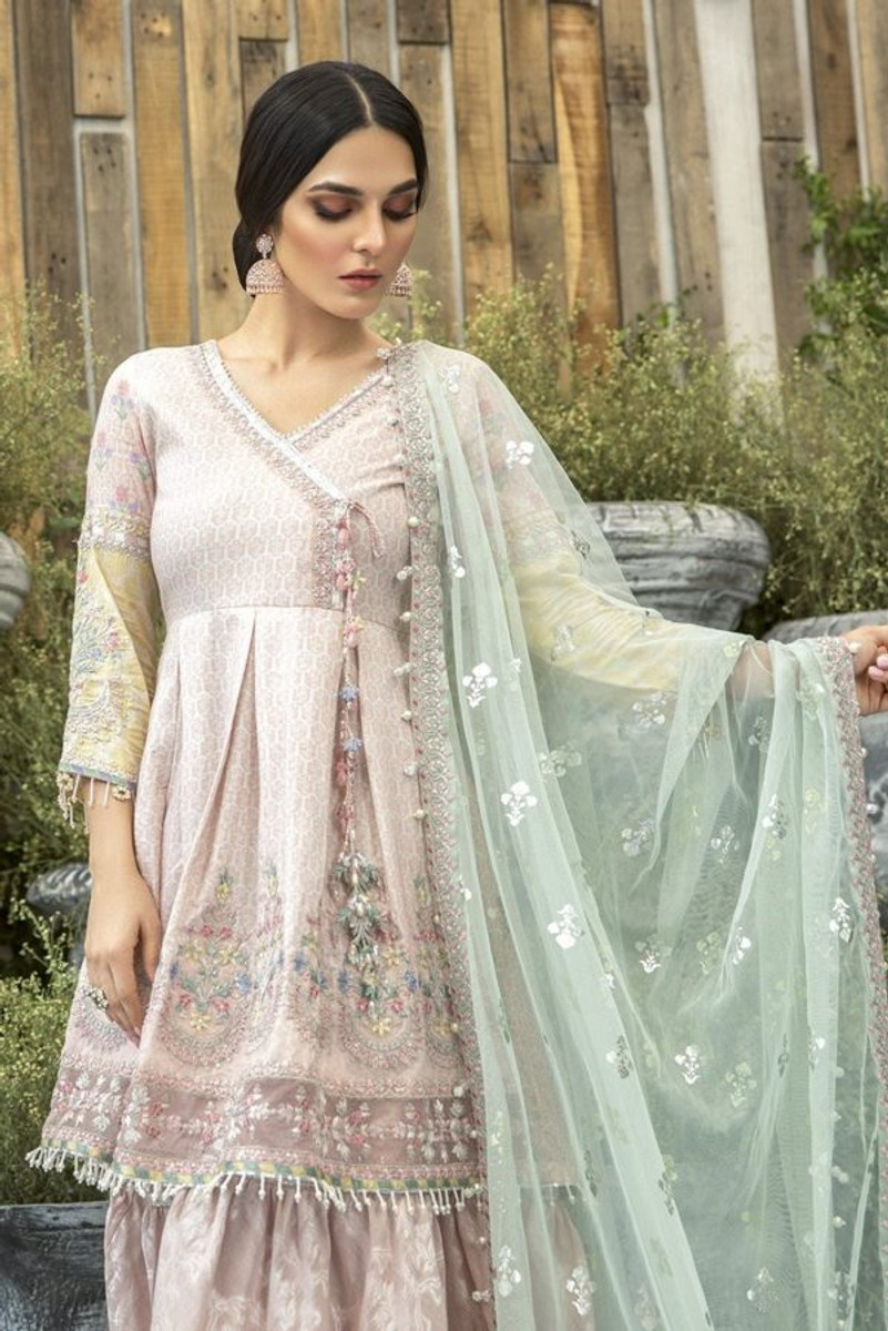 MARIAB Lawn Eid 2020-03 (Peach and Chata Patti)