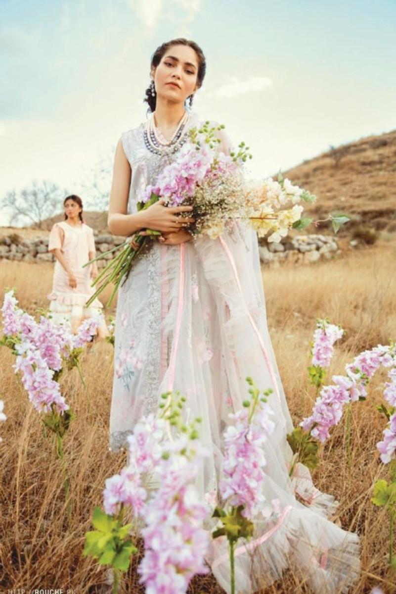 Rouche Luxury Lawn-(Oriental Spring)