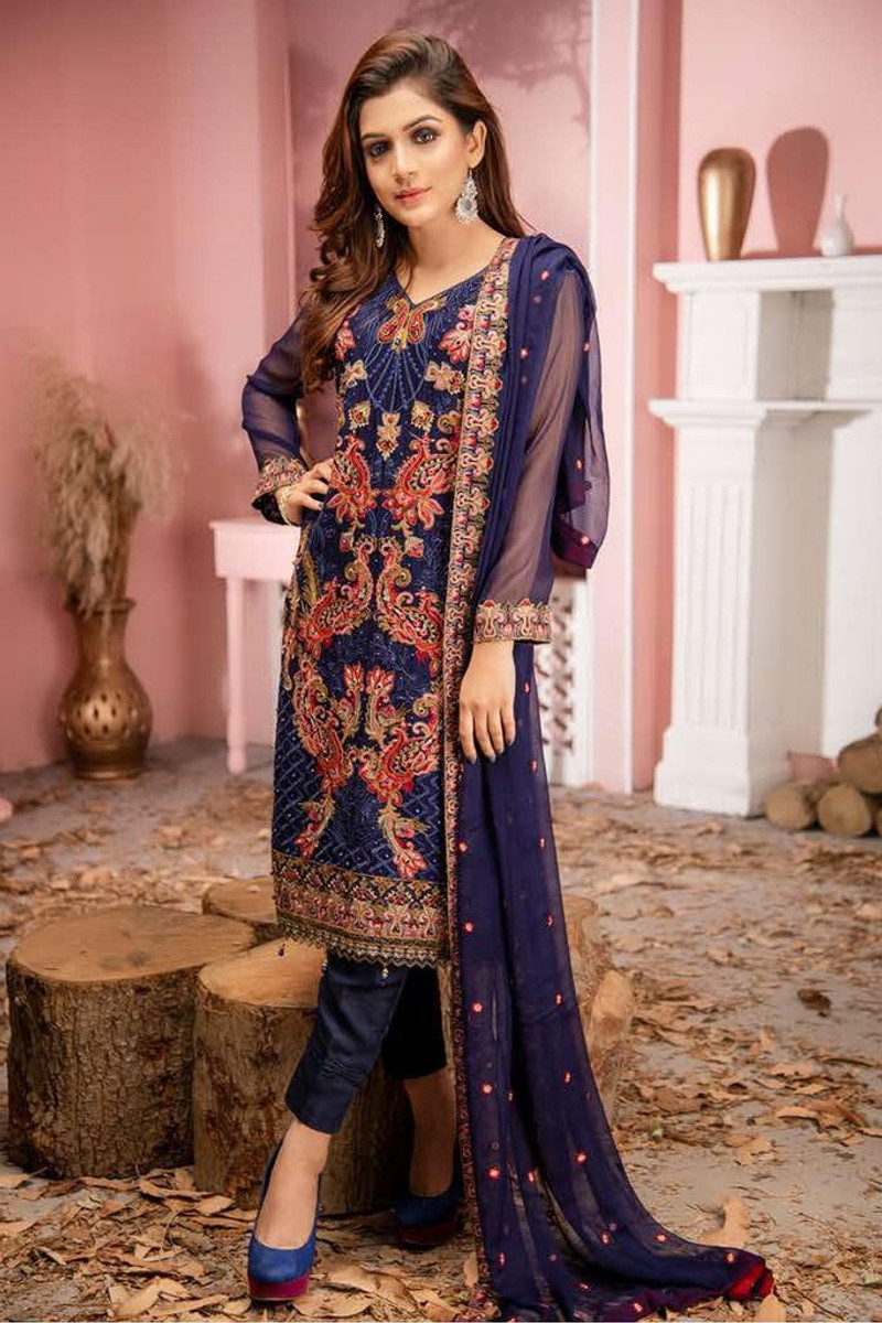 Zainab Fazlani Luxury Soirëe Mbroidered Chiffon ZF-07