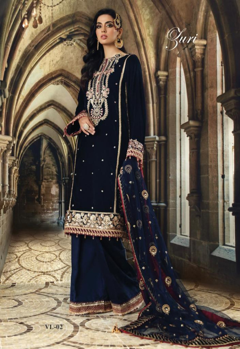 Anaya Festive Velvet Collection 2020-VL-07