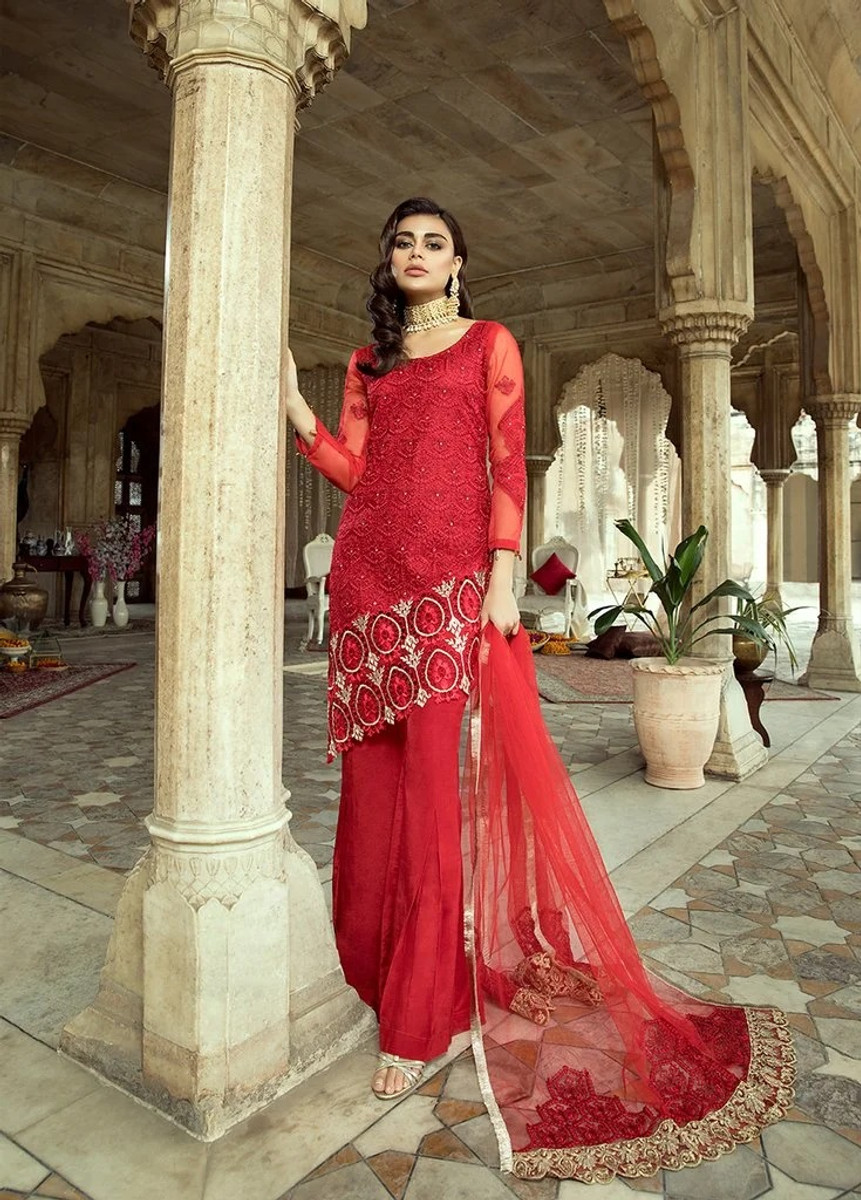 Gul E Azal Premium Formals- 02 Vintage Galore Red