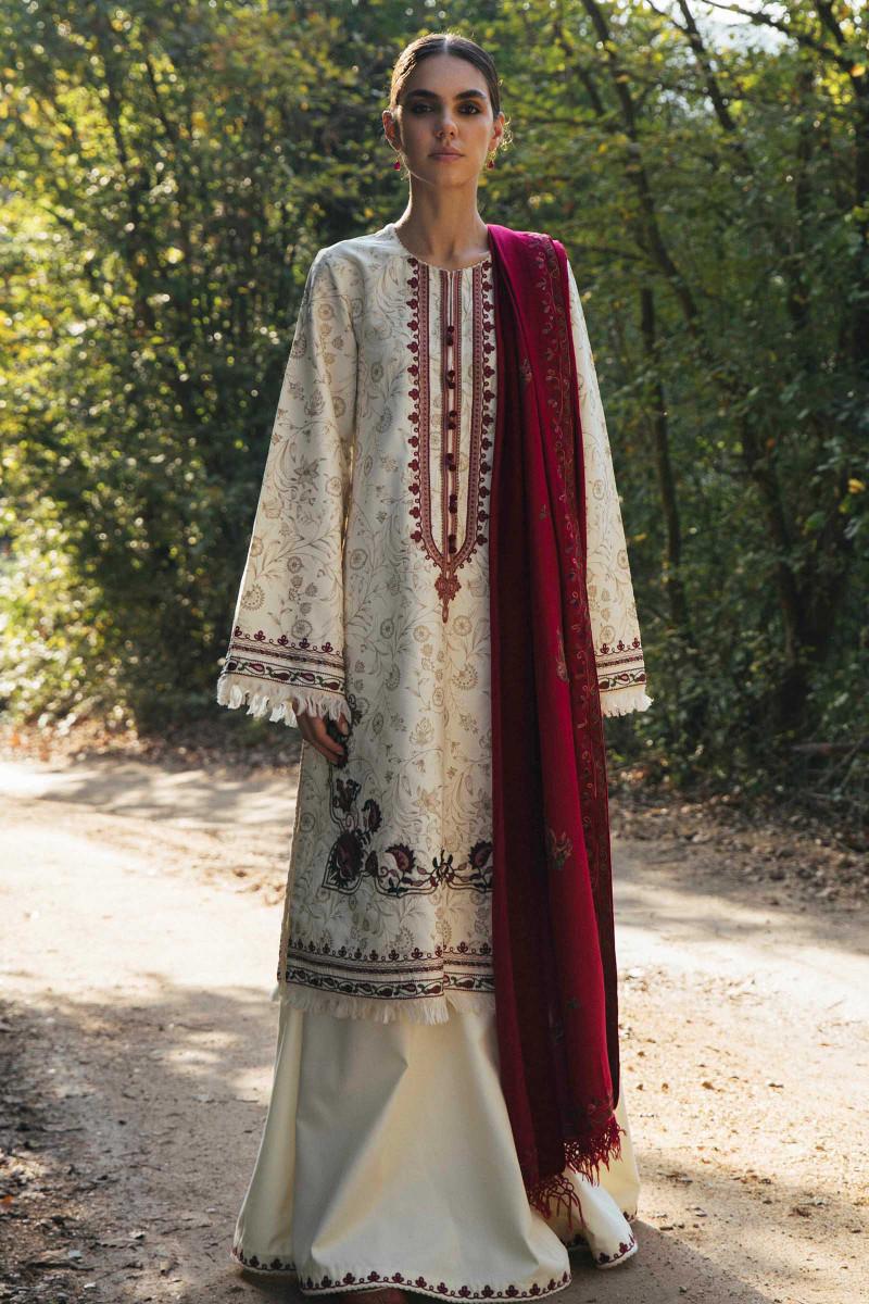 Zara Shahjahan Winter Shawl 2020-NISSA