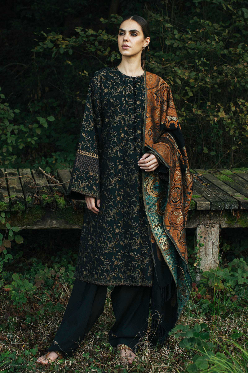 Zara Shahjahan Winter Shawl 2020-BANO
