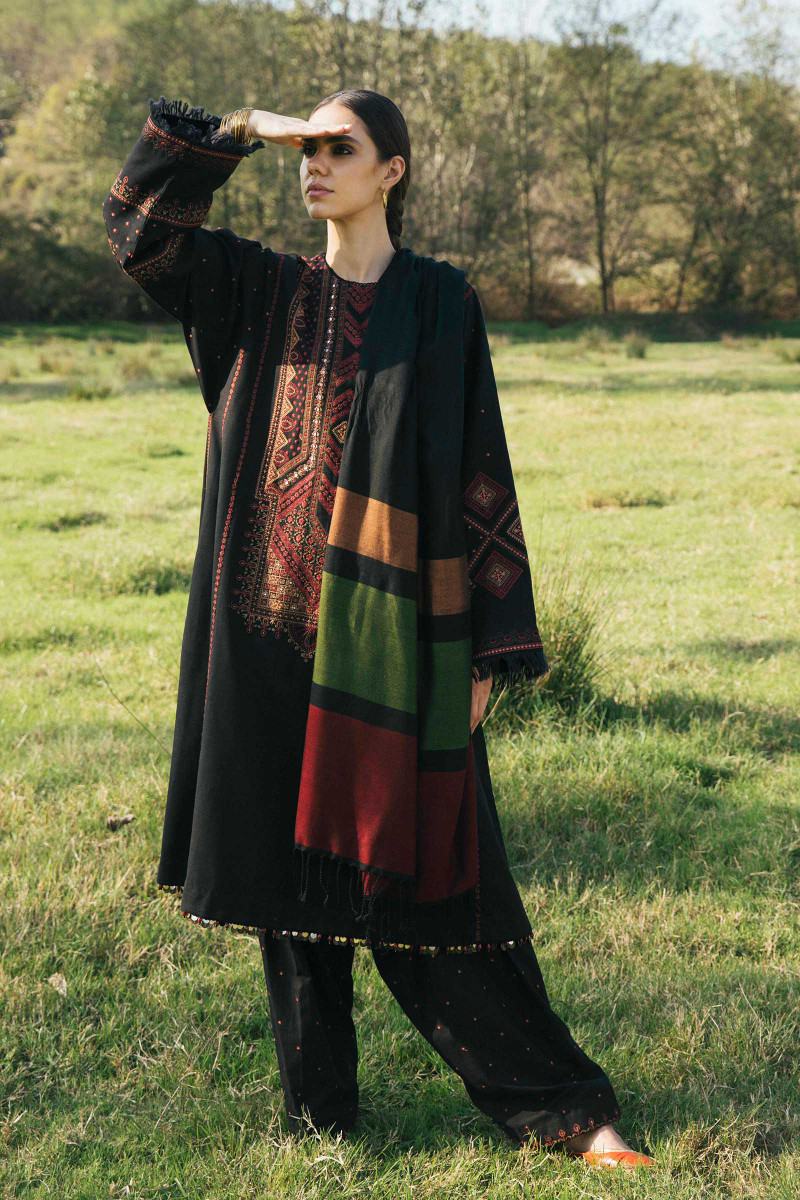 Zara Shahjahan Winter Shawl 2020-AZRAH