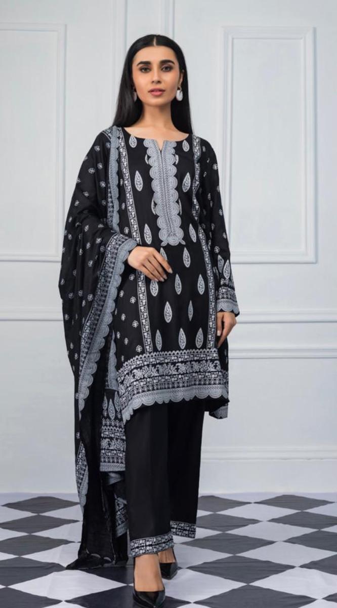 Sahil Black & White Lawn SBL 06