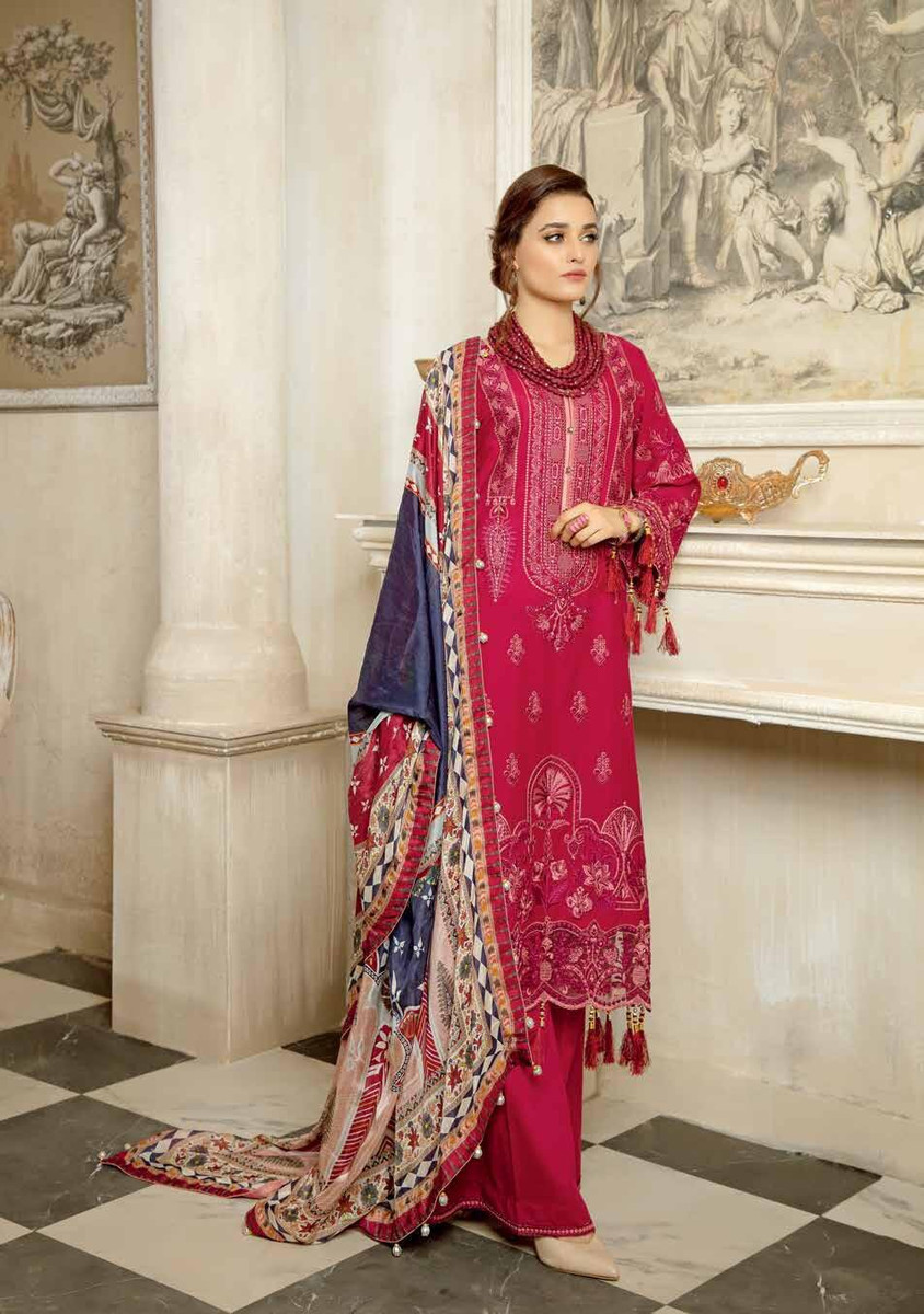 Janique Embroidered Lawn 2021 - D-08