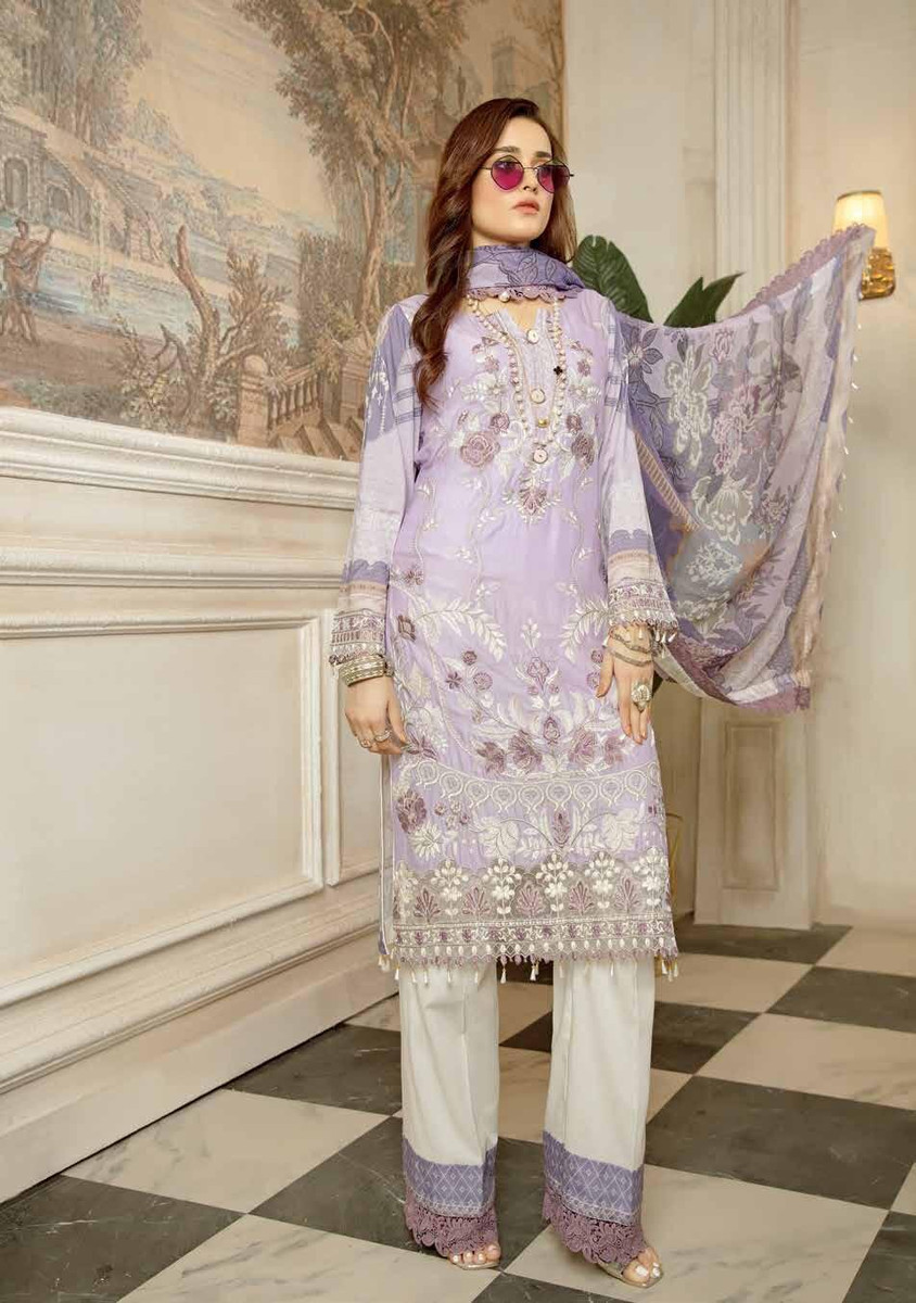 Janique Embroidered Lawn 2021 - D-06