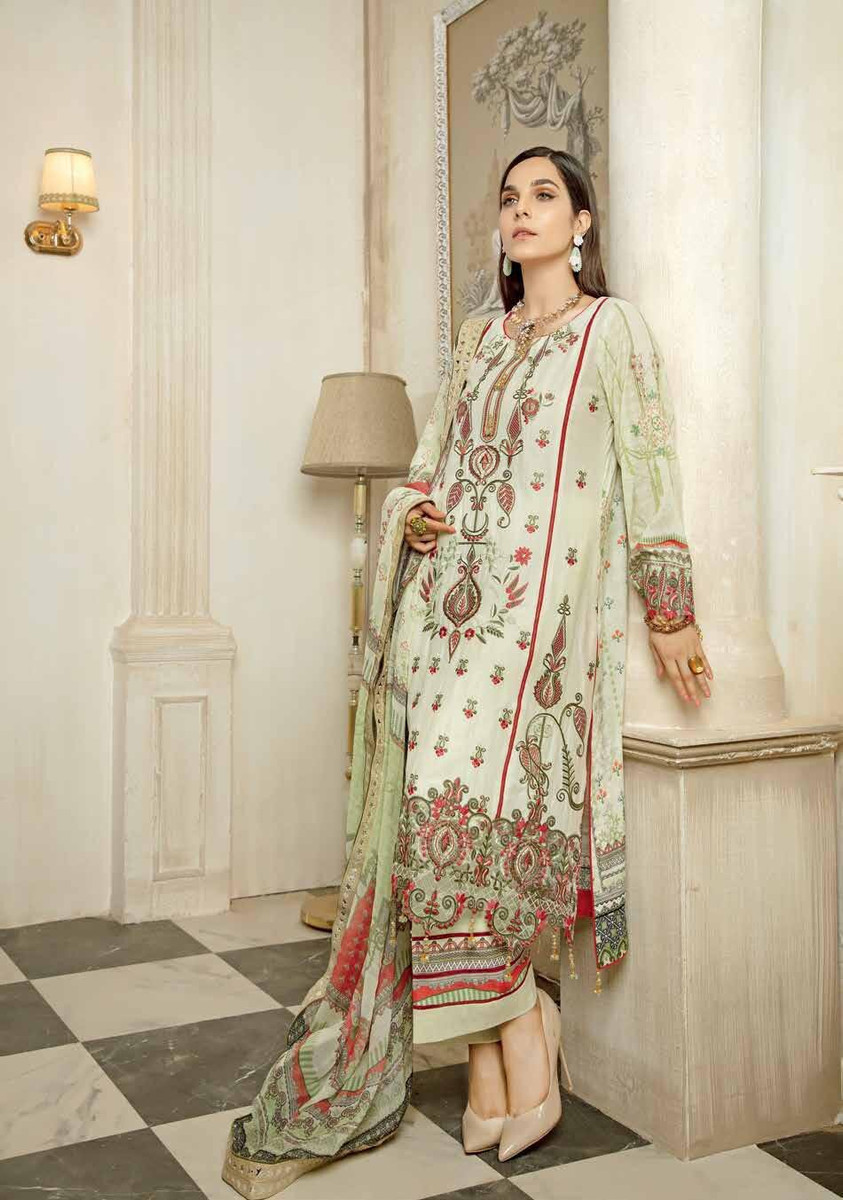 Janique Embroidered Lawn 2021 - D-04