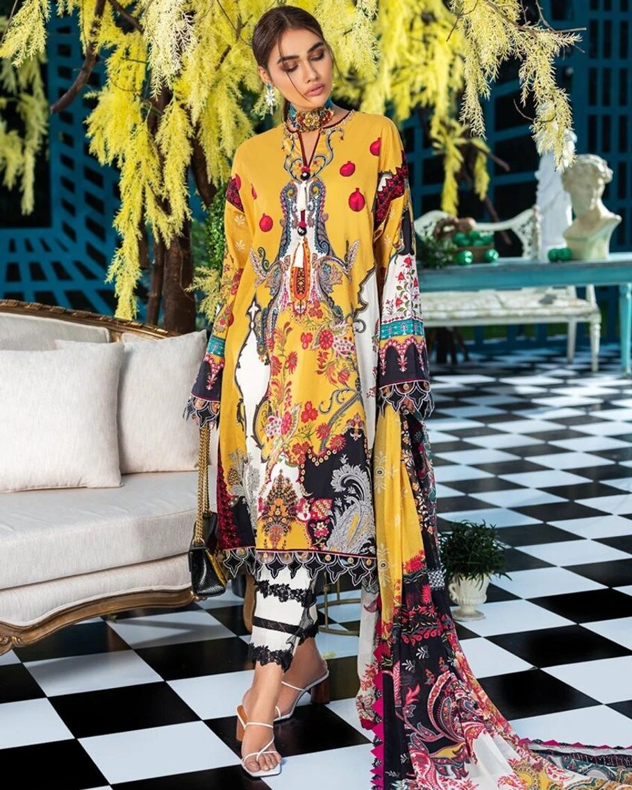 Zaha by Khadijah Shah Embroidered Lawn – CRINA (ZL-01)