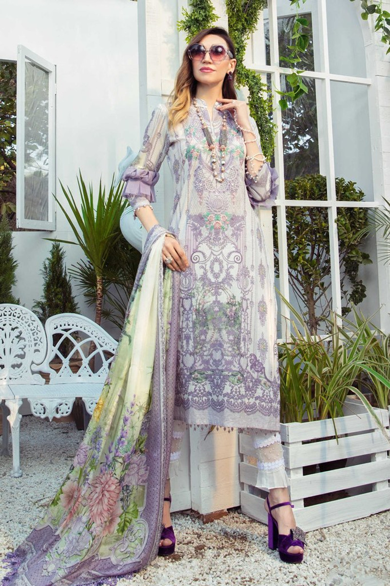 MARIA.B MPrints Spring/Summer Lawn Collection 2021-MPT-1005-A