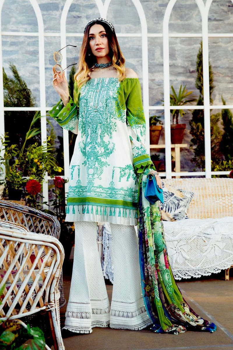 MARIA.B MPrints Spring/Summer Lawn Collection 2021-MPT-1007-A