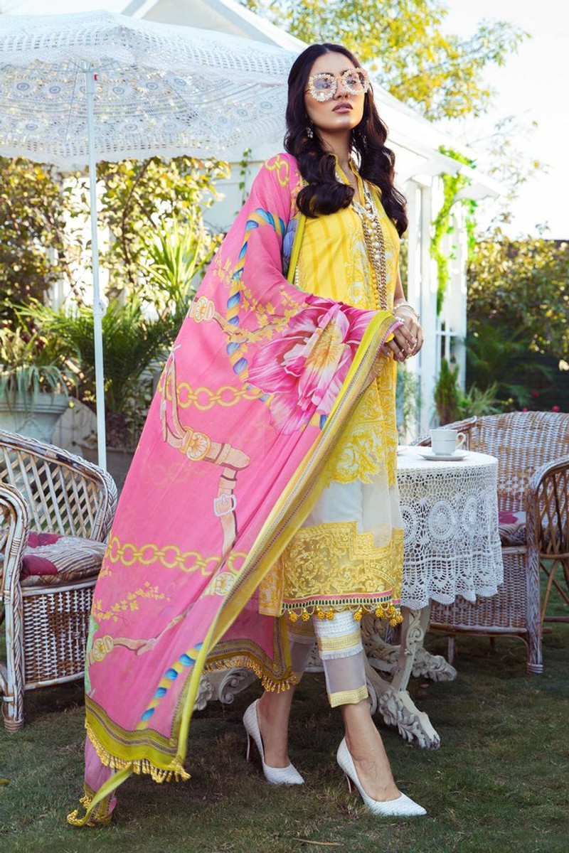 MARIA.B MPrints Spring/Summer Lawn Collection 2021-MPT-1009-A