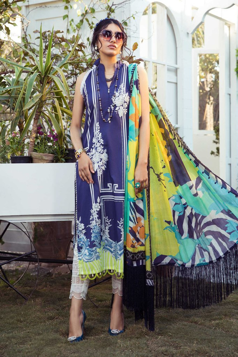MARIA.B MPrints Spring/Summer Lawn Collection 2021-MPT-1006-A