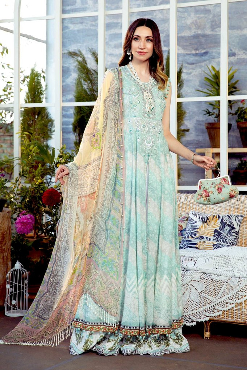 MARIA.B MPrints Spring/Summer Lawn Collection 2021-MPT-1010-B