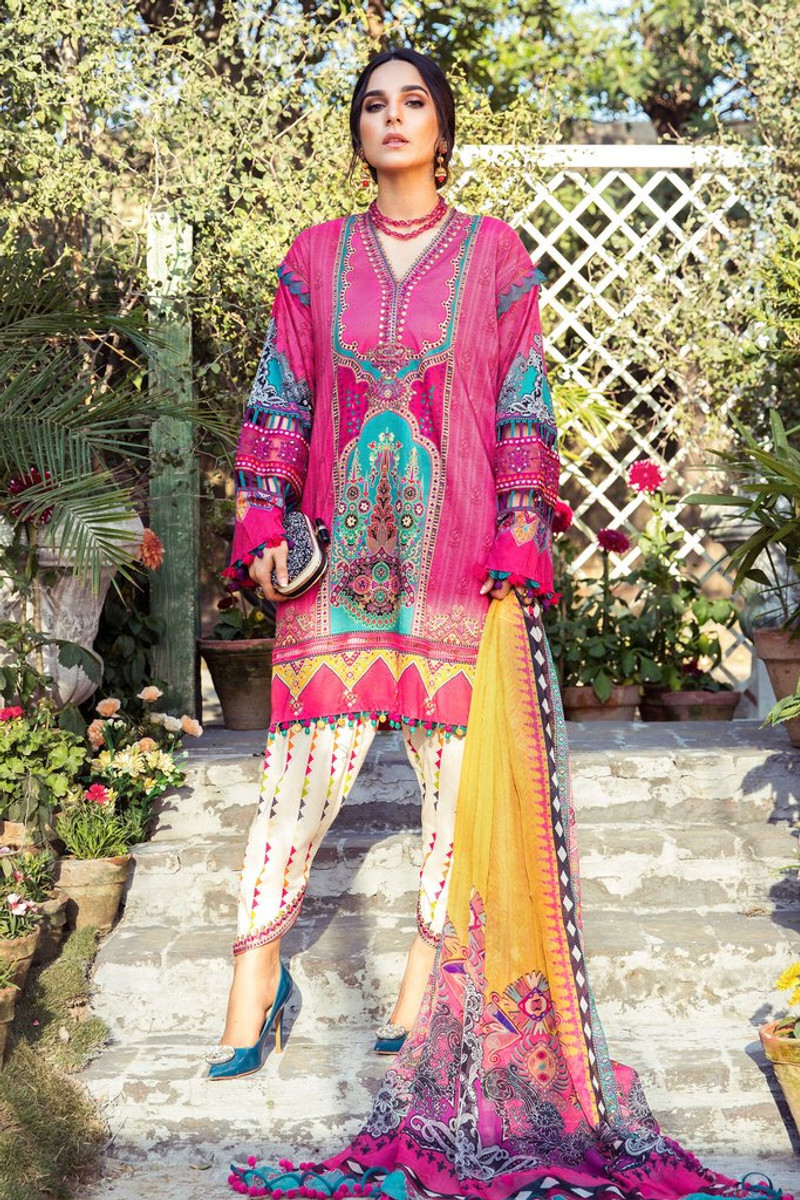 MARIA.B MPrints Spring/Summer Lawn Collection 2021-MPT-1008-B