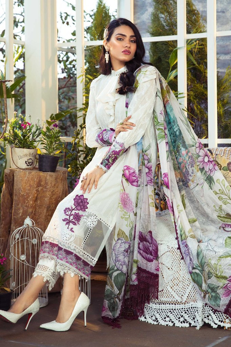 MARIA.B MPrints Spring/Summer Lawn Collection 2021-MPT-1003-A