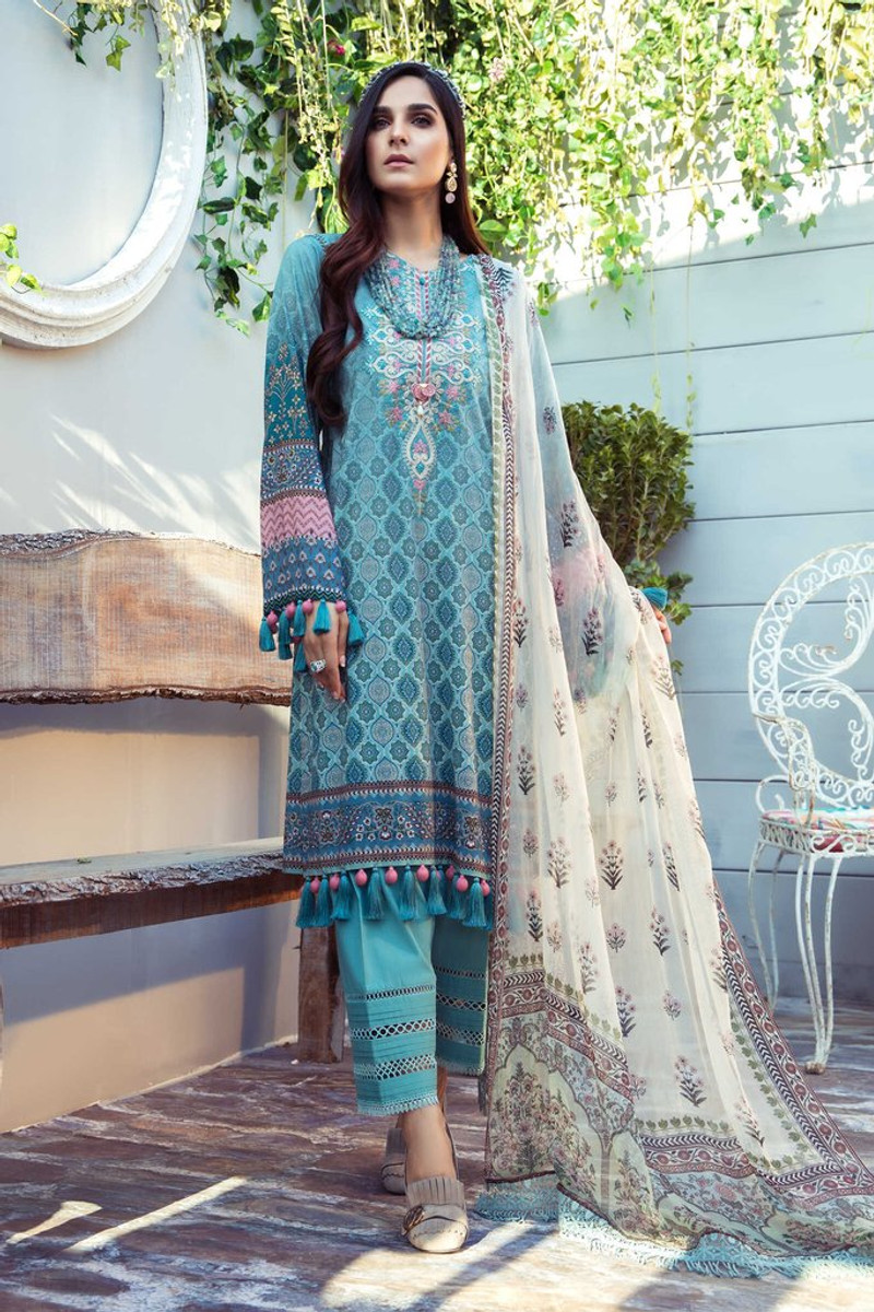 MARIA.B MPrints Spring/Summer Lawn Collection 2021-MPT-1001-A