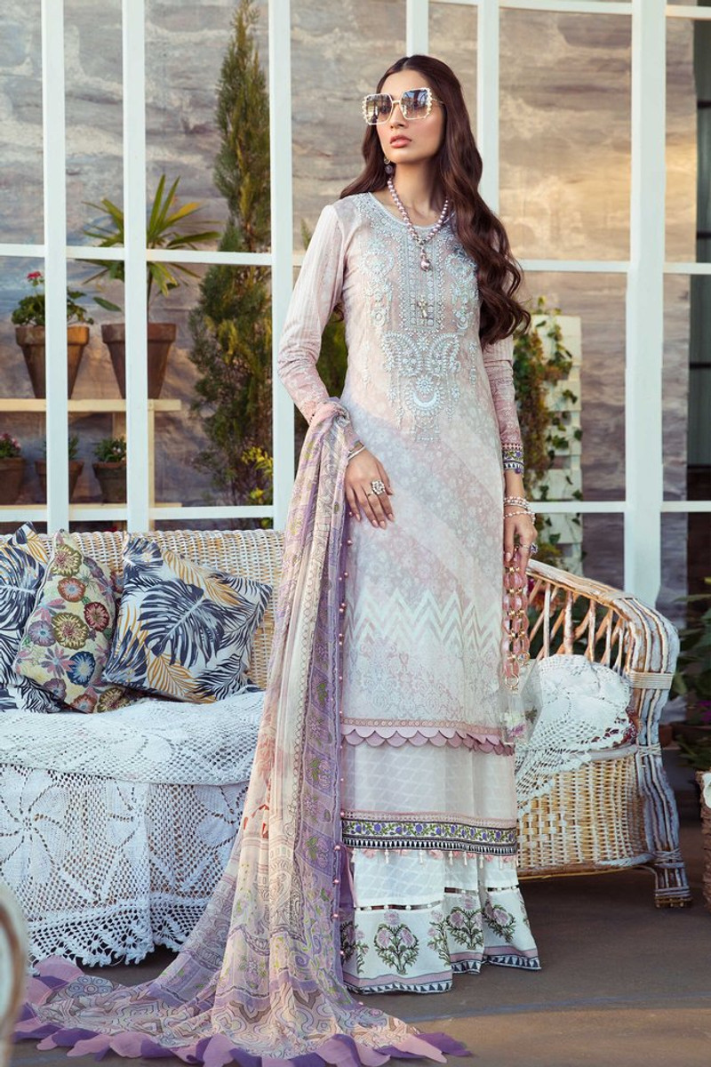 MARIA.B MPrints Spring/Summer Lawn Collection 2021-MPT-1010-A