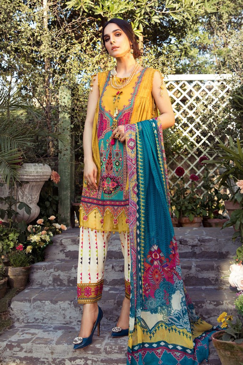 MARIA.B MPrints Spring/Summer Lawn Collection 2021-MPT-1008-A