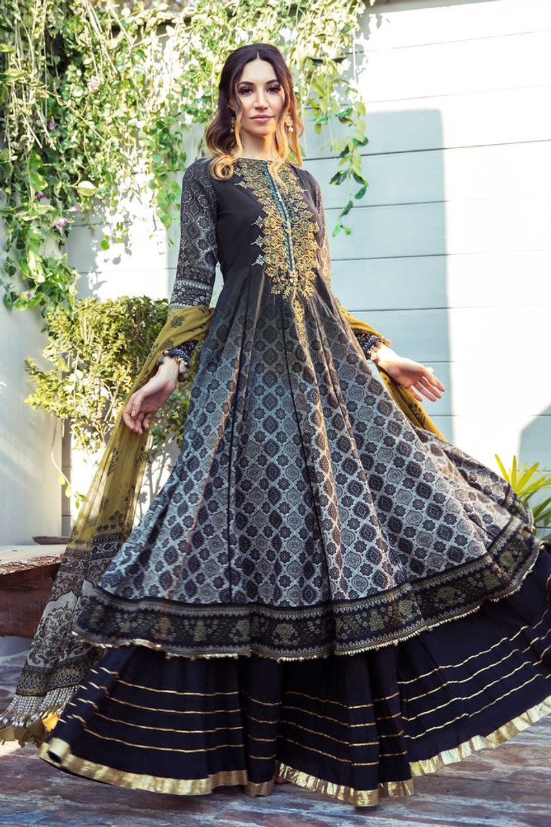 MARIA.B MPrints Spring/Summer Lawn Collection 2021-MPT-1001-B