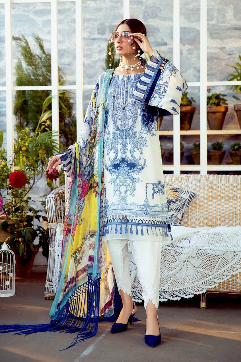 MARIA.B MPrints Spring/Summer Lawn Collection 2021-MPT-1007-B