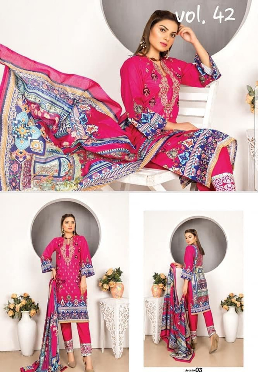 Modern Embroidered Lawn Vol-42 M03