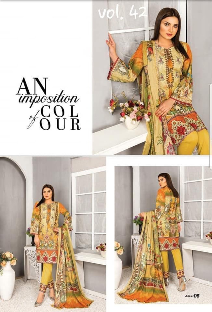 Modern Embroidered Lawn Vol-42 M05