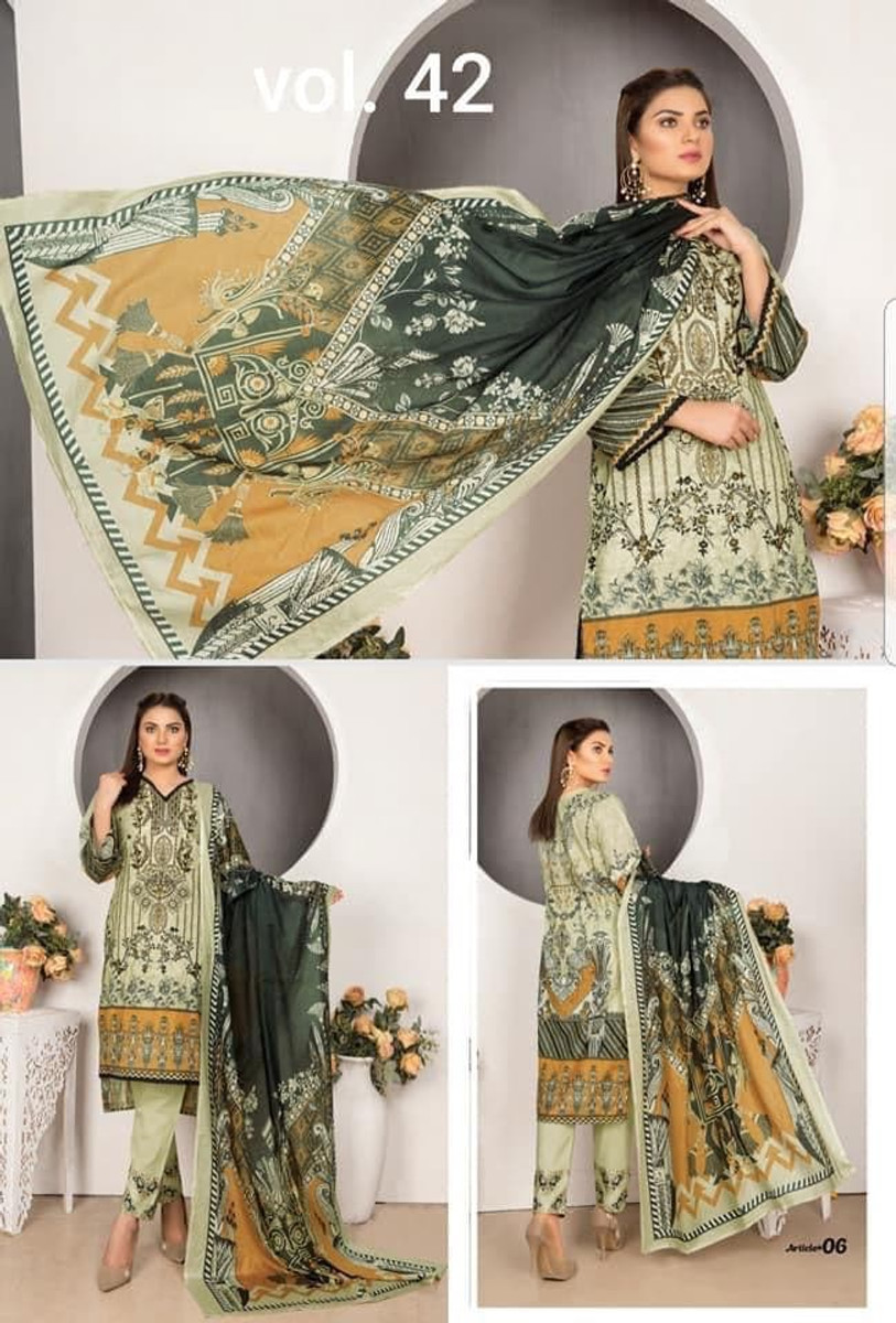 Modern Embroidered Lawn Vol-42 M06